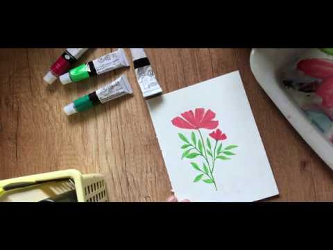 Gouache flower and our grocery shopping