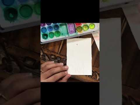 Easy lavender watercolorpainting