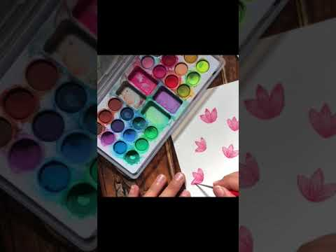 Easy watercolor floralpainting