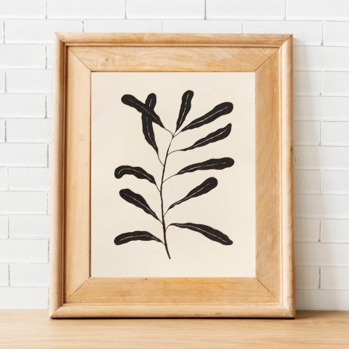 Ink leaves artprint