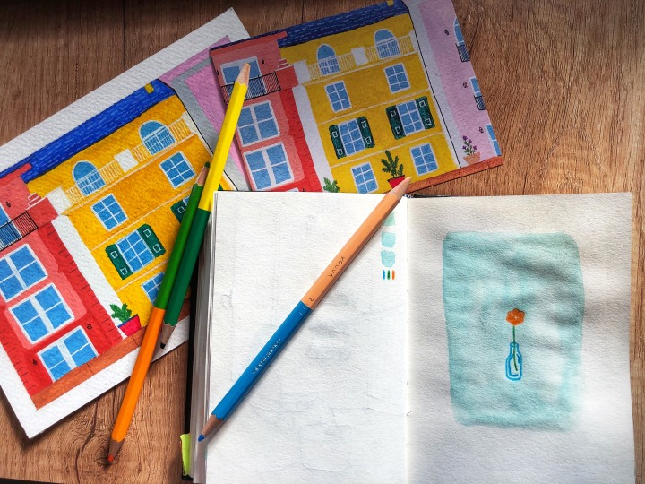 Sketchbook painting and shopupdate