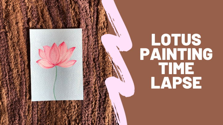 Watch me paint lotus with gouache